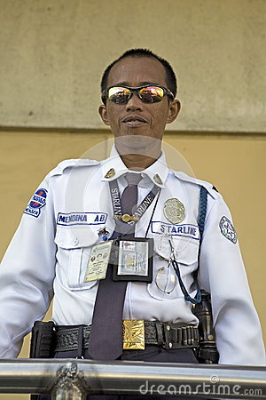 Philippines - Security Guard Editorial Photography