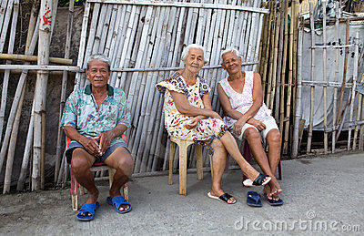 Filipino senior citizens Editorial Image