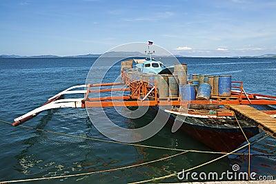 Filipino working boat