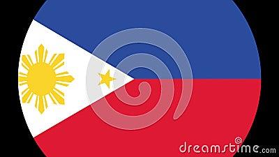Filippinernaflaggaövergång 4K vektor illustrationer