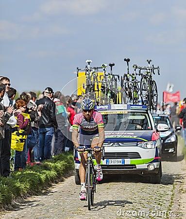 Filippo Pozzato- Paris Roubaix 2014 Editorial Photography