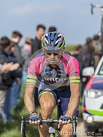 Filippo Pozzato- Paris Roubaix 2014 Editorial Image