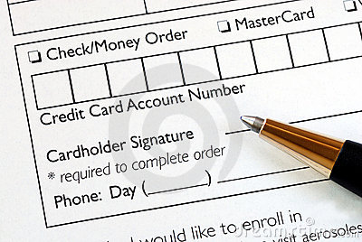 Fill in the credit card information