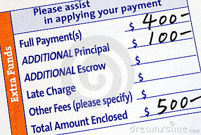Fill in the mortgage payment coupon
