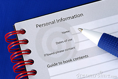 Fill in the personal information