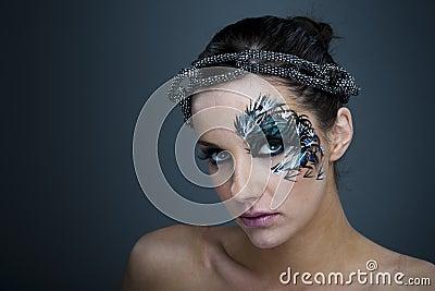 modele maquillage artistique visage