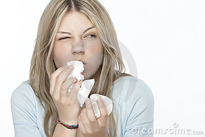 Fille D'allergies Images libres de droits - Image: 9898939
