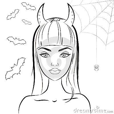 Fille du diable sexy