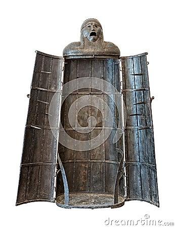 Fille de fer, découpage médiéval de dispositif de torture