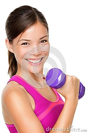 Fille de sport de forme physique