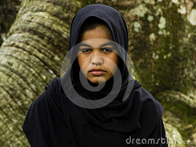 Fille indonésienne de moslim