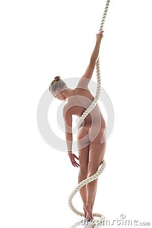Fille sur la corde