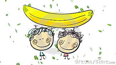Jouer avec une banane