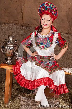 La jeune fille russe veut