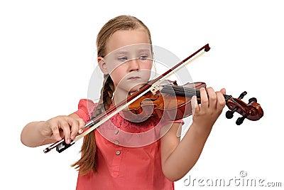 Fille triste avec un violon