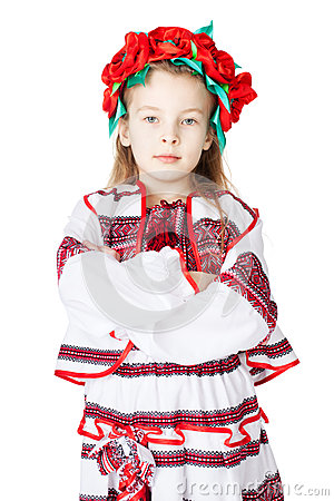 Fille ukrainienne dans le costume national