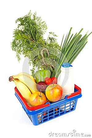 Free Filled Shopping Basket Stock Images - 15926314