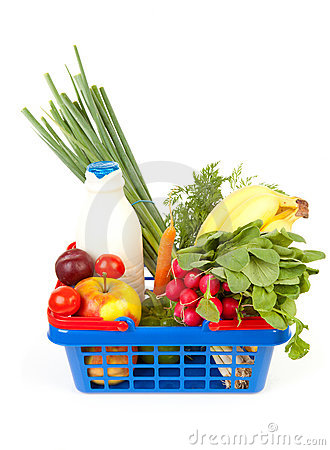 Free Filled Shopping Basket Stock Image - 15926321
