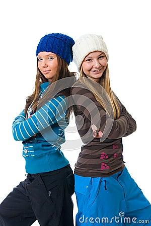 Les deux jeunes filles attirantes