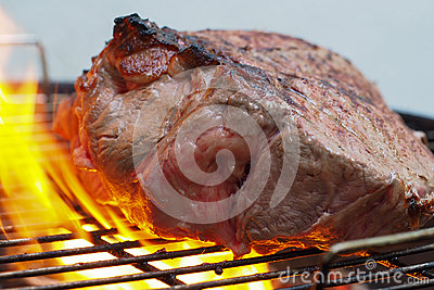 Fillet beef on barbecue