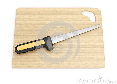 Fillet knife and cutting board