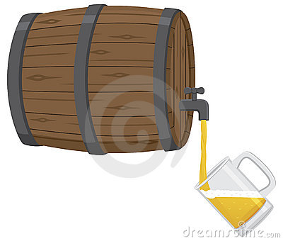 Filling a Beer Mug From Keg