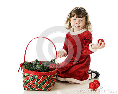 Filling the Christmas Basket