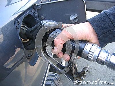Filling diesel