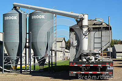 Filling Feed Bins Editorial Image