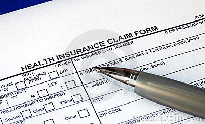 Filling the health insurance claim form