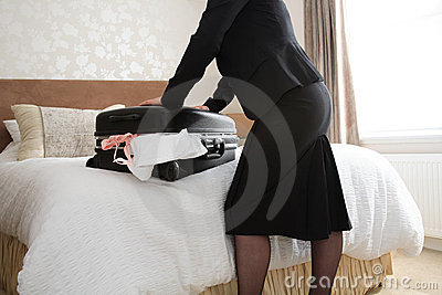 Filling a suitcase
