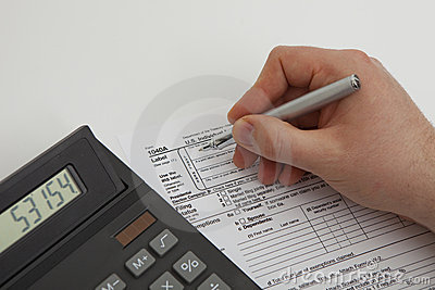 Filling tax form Editorial Photo