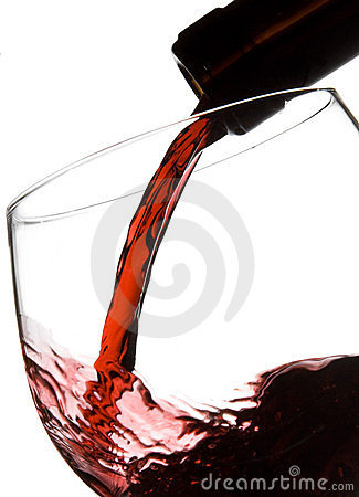 Filling wine glass