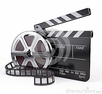 Free Film And Clapper Board Royalty Free Stock Photos - 30142238