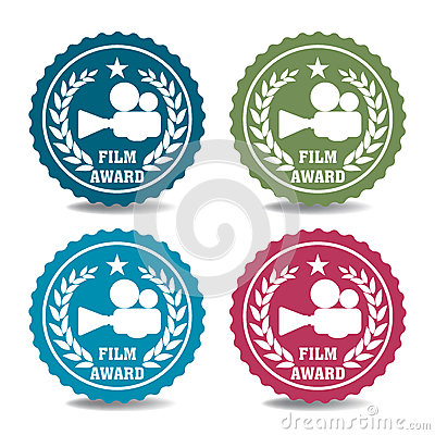 Film award stickers