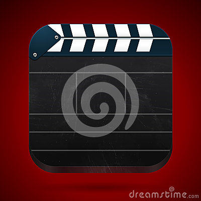 Film clap board cinema vector illustration