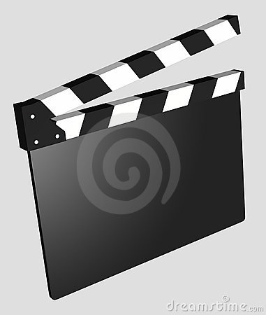 Film - Clapboard Empty isolated