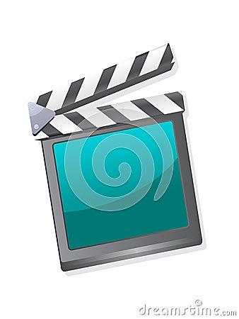 A film clapperboard