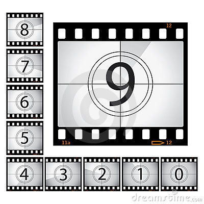 Free Film Countdown Royalty Free Stock Photography - 12895737