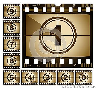 Free Film Countdown Stock Photos - 13494193