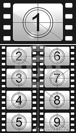 Free Film Countdown Stock Images - 29436954
