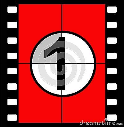 Free Film Countdown Royalty Free Stock Photos - 843908