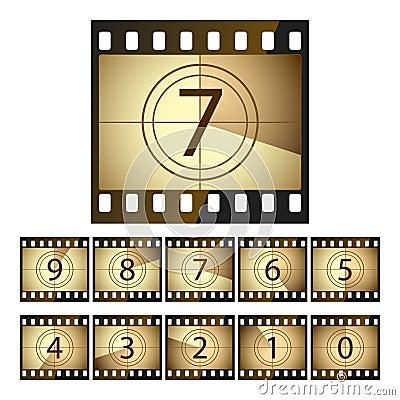 Free Film Countdown Royalty Free Stock Photo - 9917575