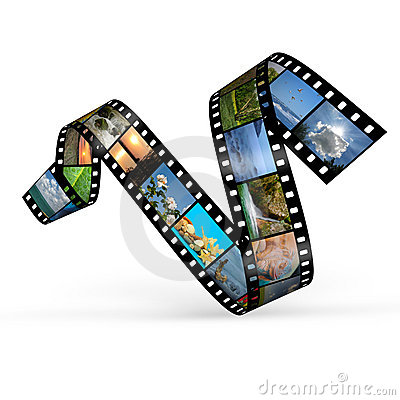 Free Film Curve With Photos Stock Photo - 14638360
