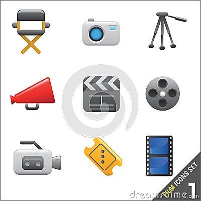 Film et vecteur 1 de graphisme de medias