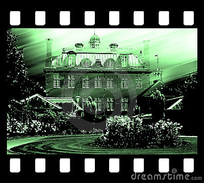 Free Film Frame Photo Edge And Old House Drawing Royalty Free Stock Photo - 854635