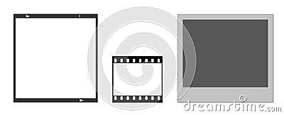 Film frames and polaroid frame