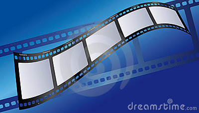 Film illustration blue