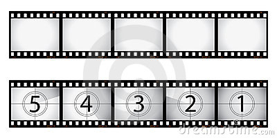 Film negative and countdown
