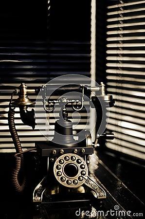 Free Film Noir Vintage Telephone Royalty Free Stock Photos - 27691138